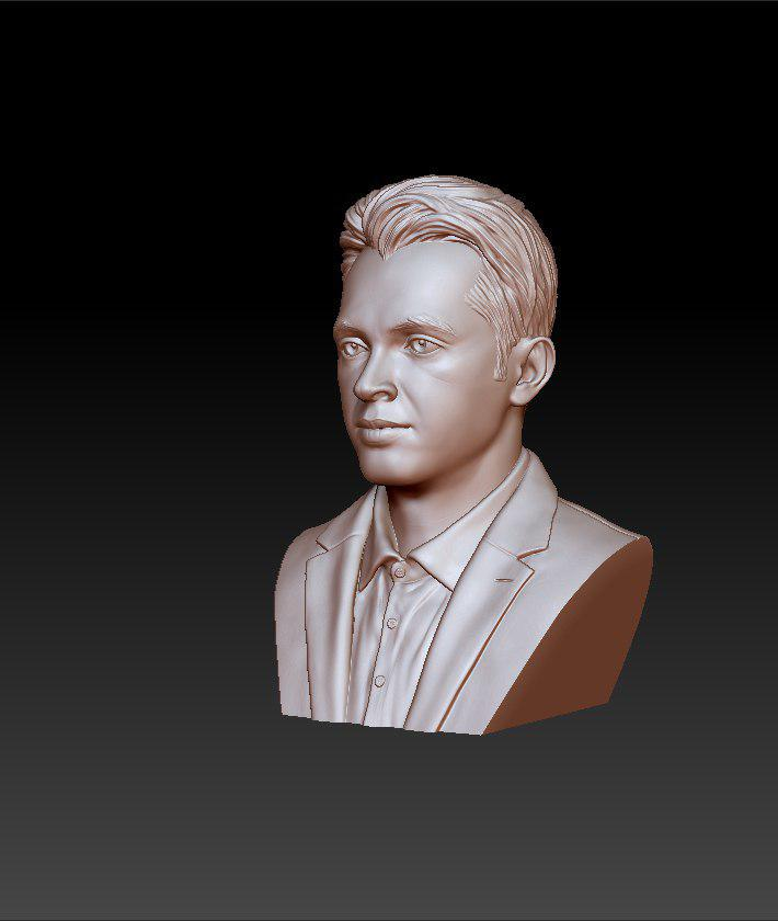 rose gold man sculpture -39 3d model max obj 297488