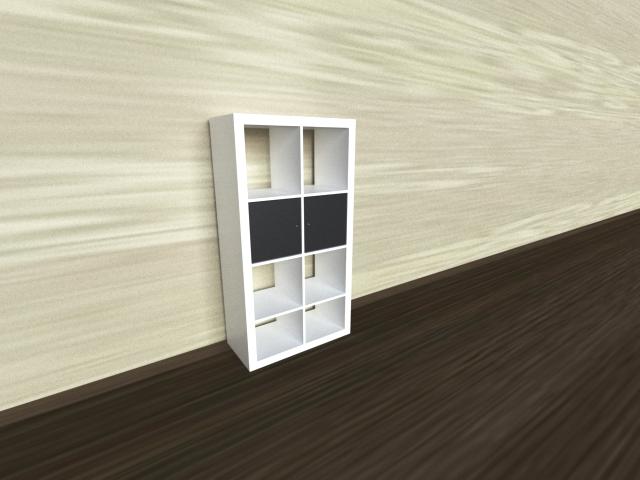white bookcase 3d model 3ds max 297540