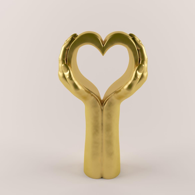 Golden hand_heart-42 3d líkanið hámarki á 297557