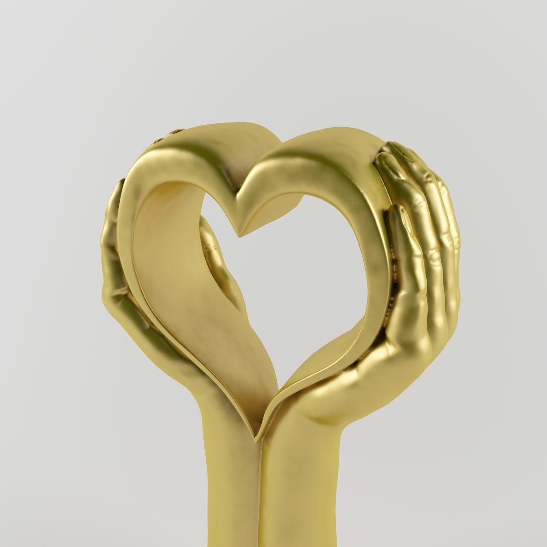 Golden hand_heart-42 3d líkanið hámarki á 297558