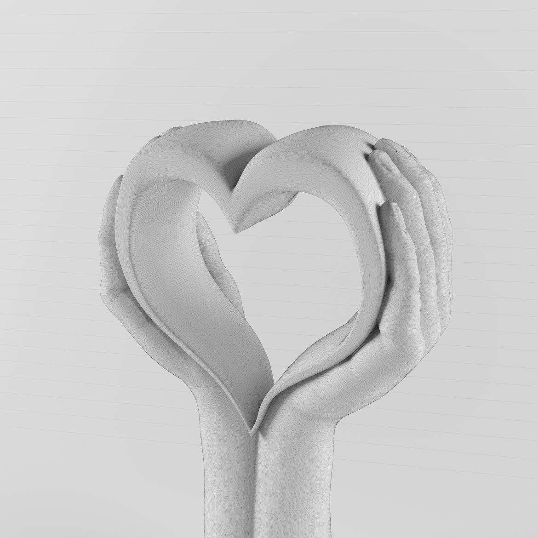 Golden hand_heart-42 3d líkanið hámarki á 297559