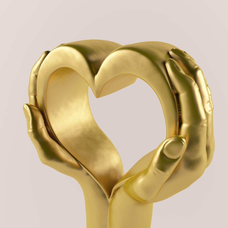 Golden hand_heart-42 3d líkanið hámarki á 297560