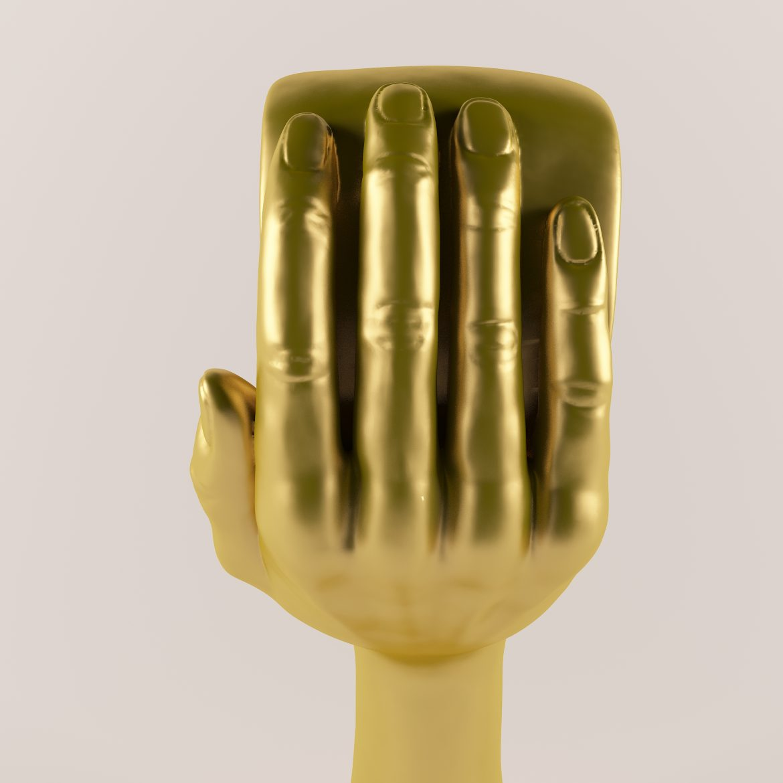 Golden hand_heart-42 3d líkanið hámarki á 297562