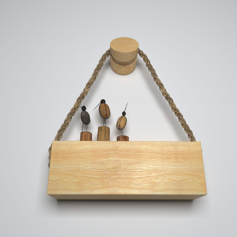 wooden holder-46 3d model max obj 297688