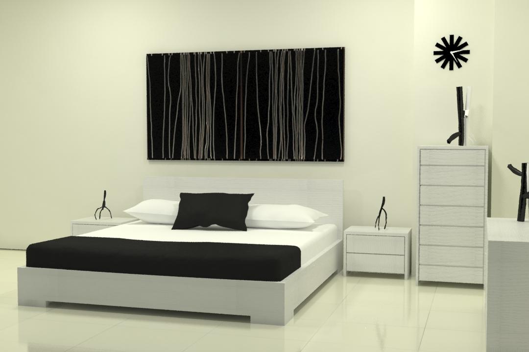 master bed-49 3d model max obj 297757