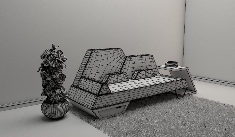 sofa 2 -51 3d model 3ds obj 297782
