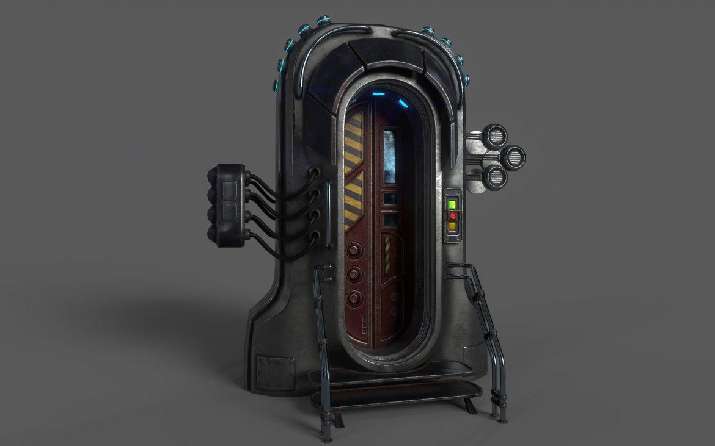 sci-fi door 05 3d model 3ds max fbx obj 297825