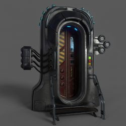 sci-fi door 05 3d model 3ds max fbx obj 297825