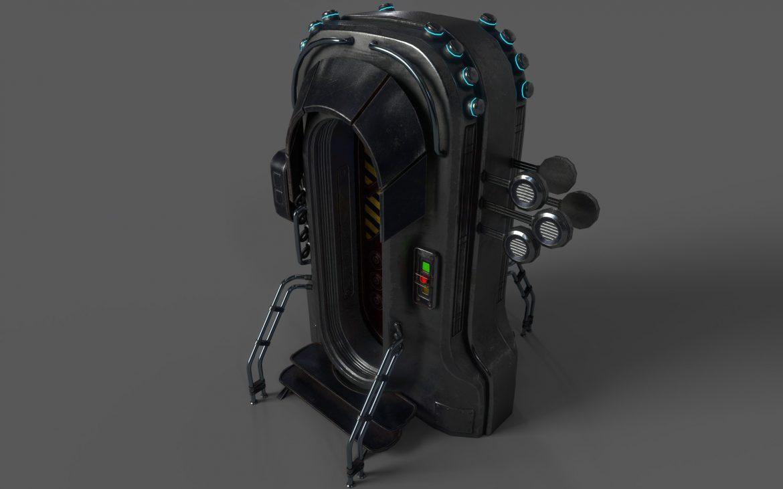 sci-fi door 05 3d model 3ds max fbx obj 297826