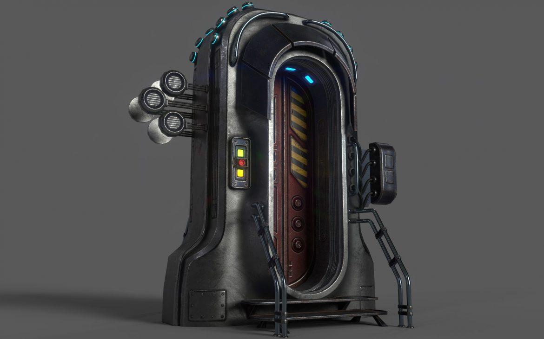 sci-fi door 05 3d model 3ds max fbx obj 297827