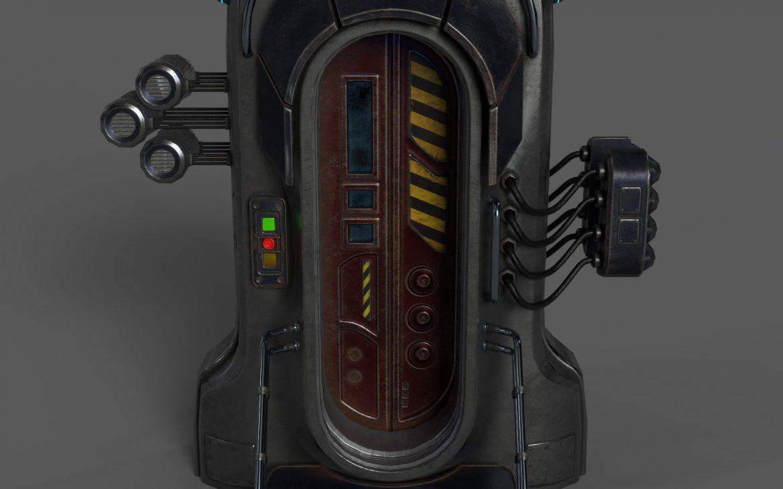 sci-fi door 05 3d model 3ds max fbx obj 297828