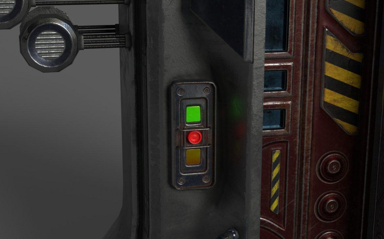 sci-fi door 05 3d model 3ds max fbx obj 297829