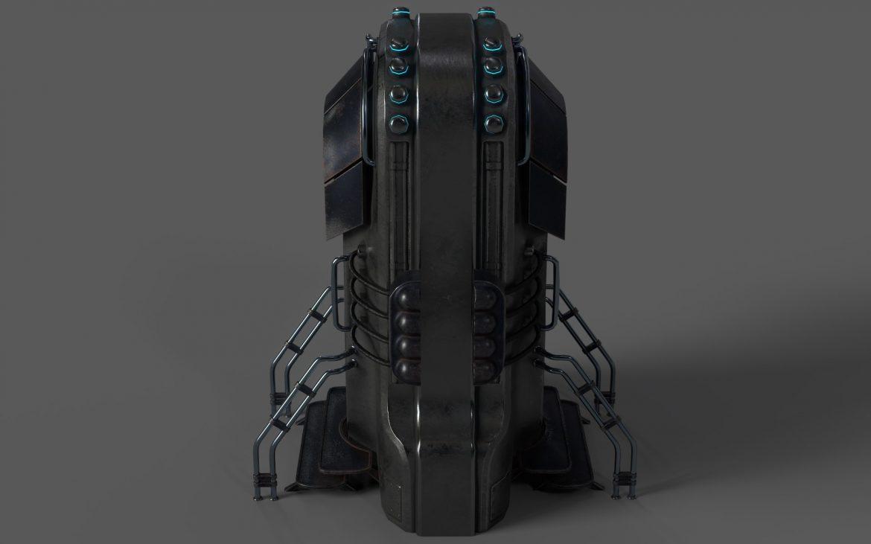 sci-fi door 05 3d model 3ds max fbx obj 297830