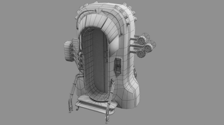 sci-fi door 05 3d model 3ds max fbx obj 297831
