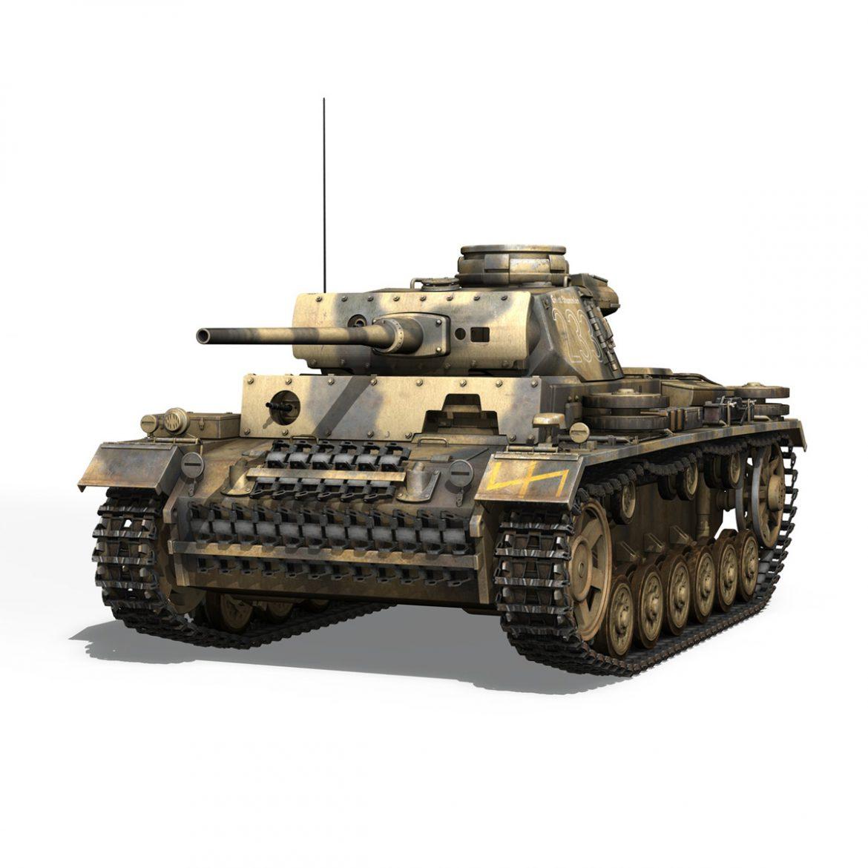 pzkpfw iii – panzer 3 – ausf.l – 223 3d model 3ds fbx c4d lwo obj 297850