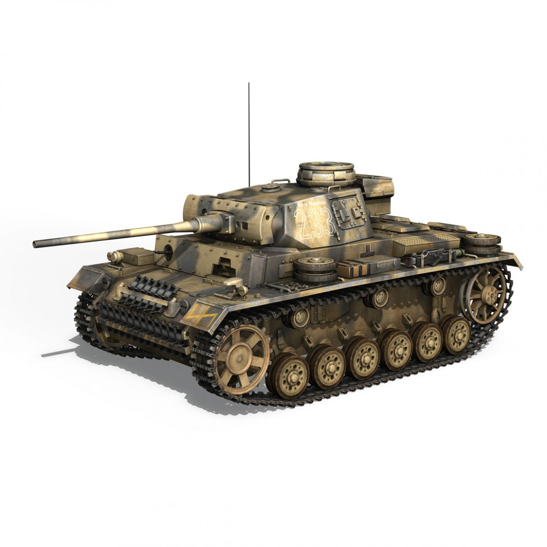 pzkpfw iii – panzer 3 – ausf.l – 223 3d model 3ds fbx c4d lwo obj 297851