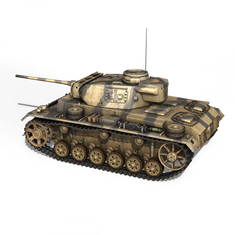 pzkpfw iii – panzer 3 – ausf.l – 223 3d model 3ds fbx c4d lwo obj 297852