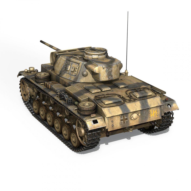 pzkpfw iii – panzer 3 – ausf.l – 223 3d model 3ds fbx c4d lwo obj 297853