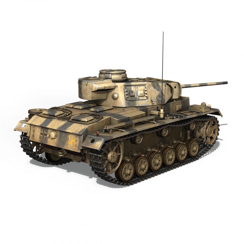 pzkpfw iii – panzer 3 – ausf.l – 223 3d model 3ds fbx c4d lwo obj 297854