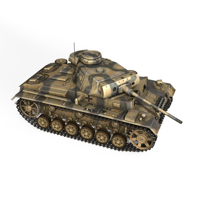 pzkpfw iii – panzer 3 – ausf.l – 223 3d model 3ds fbx c4d lwo obj 297855