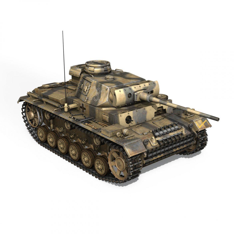 pzkpfw iii – panzer 3 – ausf.l – 223 3d model 3ds fbx c4d lwo obj 297856