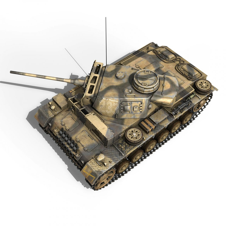 pzkpfw iii – panzer 3 – ausf.l – 223 3d model 3ds fbx c4d lwo obj 297857