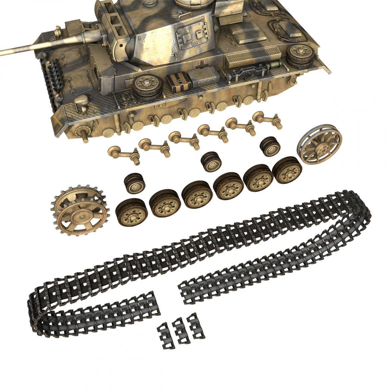 pzkpfw iii – panzer 3 – ausf.l – 223 3d model 3ds fbx c4d lwo obj 297858