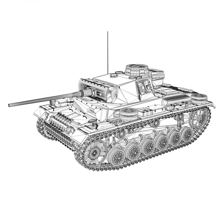 pzkpfw iii – panzer 3 – ausf.l – 223 3d model 3ds fbx c4d lwo obj 297860