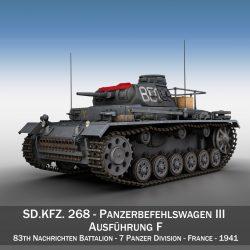pzbefwg iii – ausf.f – 7 pzdiv 3d model 3ds fbx c4d lwo obj 297868
