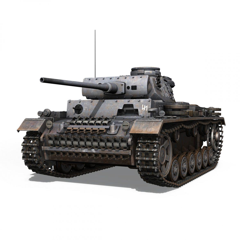 pzkpfw iii – panzer 3 – ausf.m – 513 3d model 3ds fbx c4d lwo obj 297888