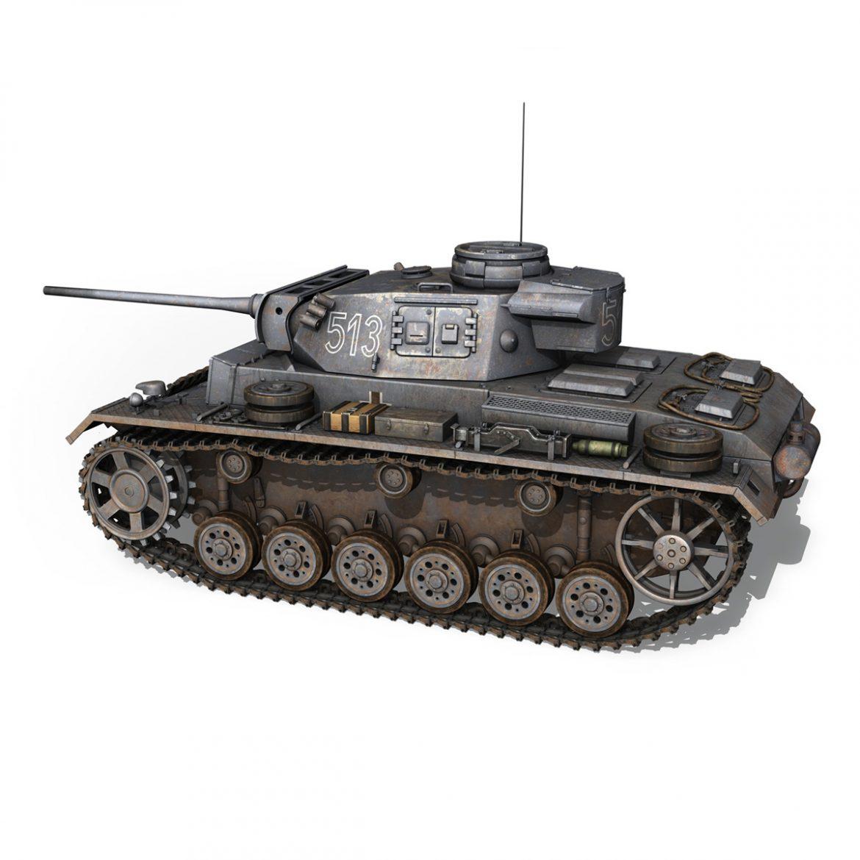 pzkpfw iii – panzer 3 – ausf.m – 513 3d model 3ds fbx c4d lwo obj 297890