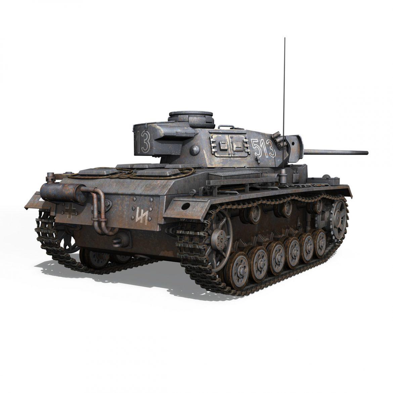 pzkpfw iii – panzer 3 – ausf.m – 513 3d model 3ds fbx c4d lwo obj 297892