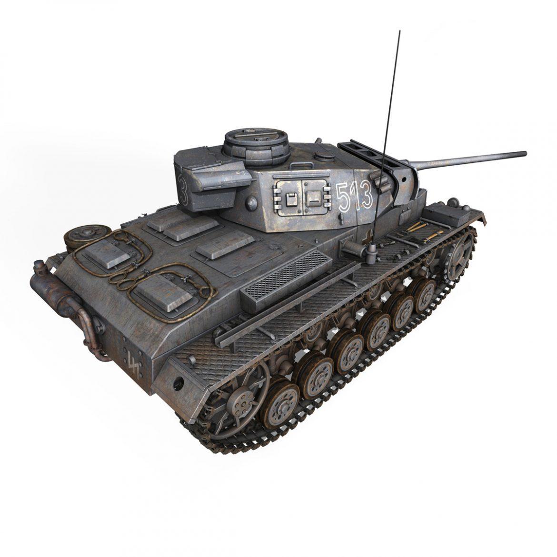 pzkpfw iii – panzer 3 – ausf.m – 513 3d model 3ds fbx c4d lwo obj 297893