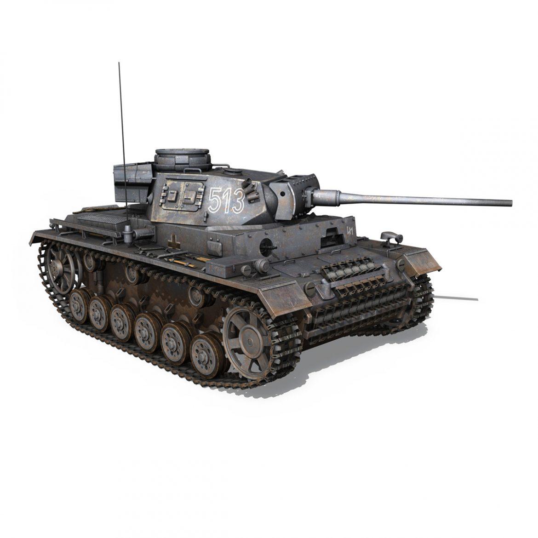 pzkpfw iii – panzer 3 – ausf.m – 513 3d model 3ds fbx c4d lwo obj 297894