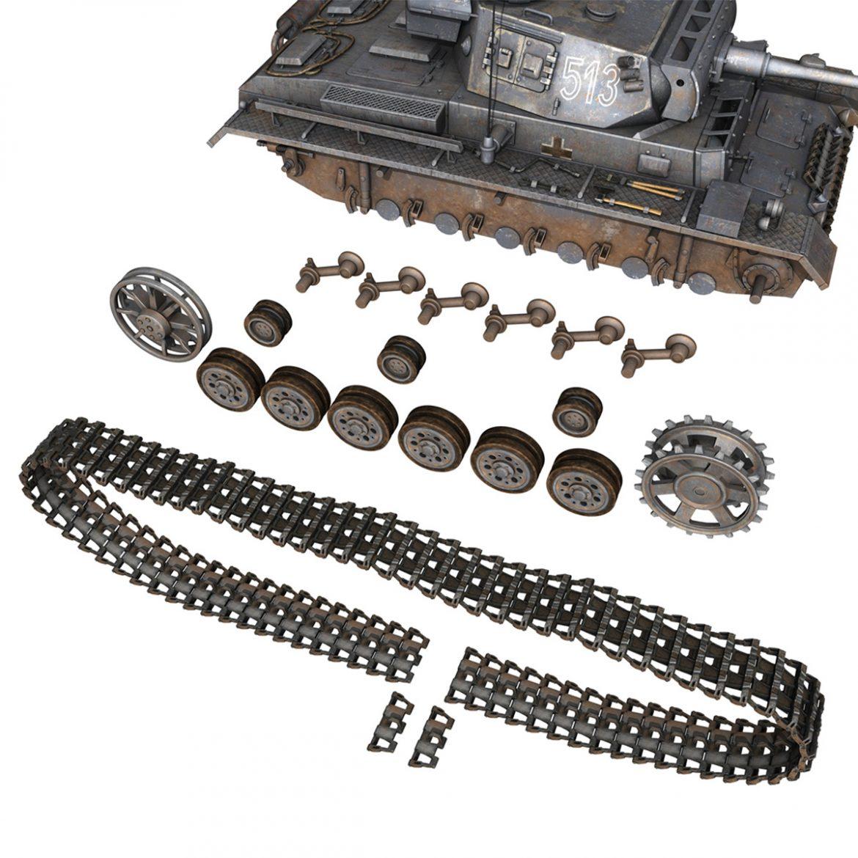 pzkpfw iii – panzer 3 – ausf.m – 513 3d model 3ds fbx c4d lwo obj 297896