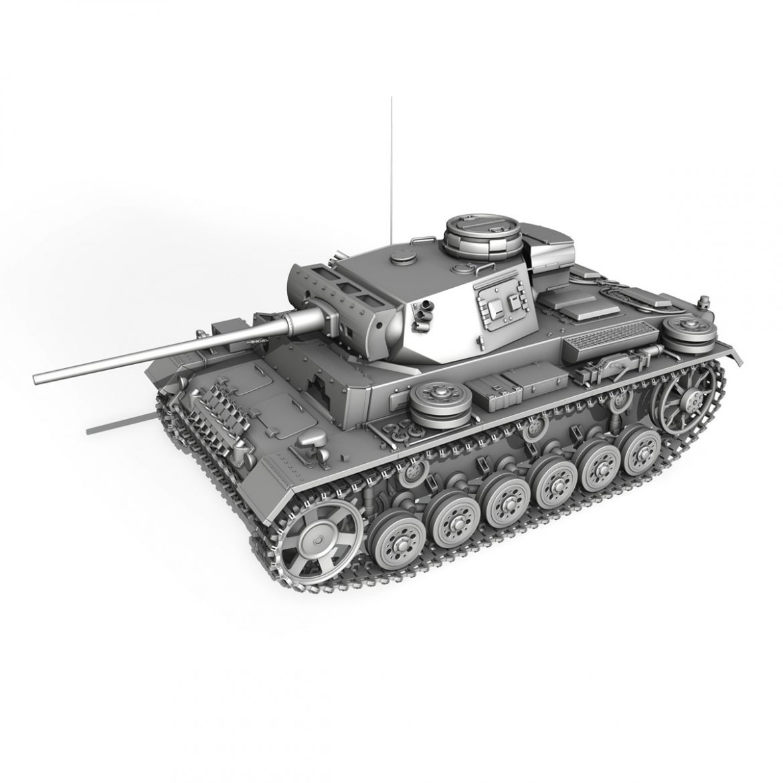 pzkpfw iii – panzer 3 – ausf.m – 513 3d model 3ds fbx c4d lwo obj 297897