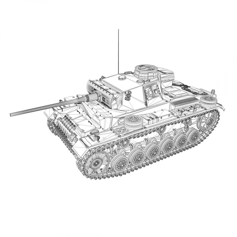 pzkpfw iii – panzer 3 – ausf.m – 513 3d model 3ds fbx c4d lwo obj 297898