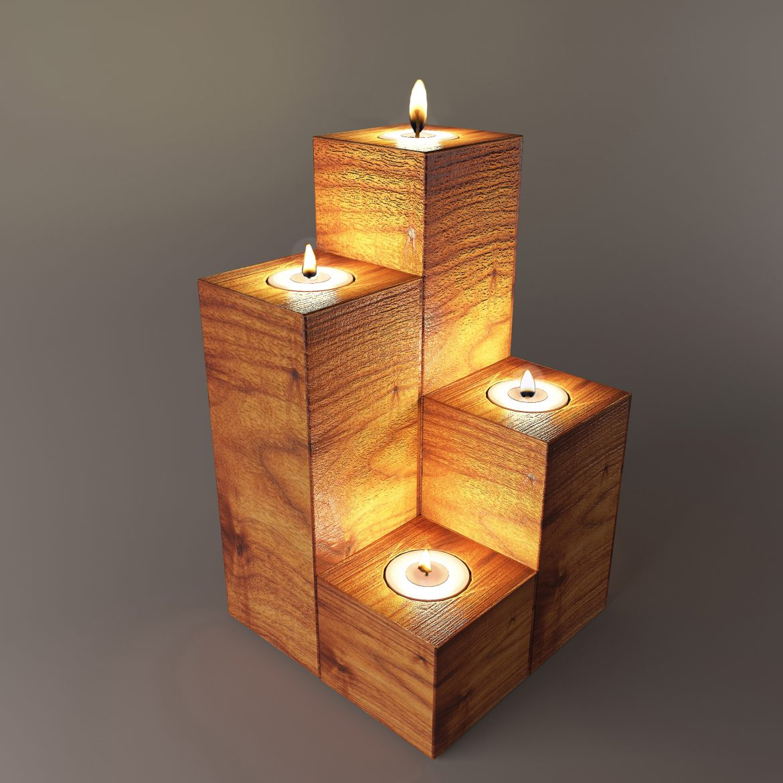 wooden stand taper-64 3d model max obj 297913