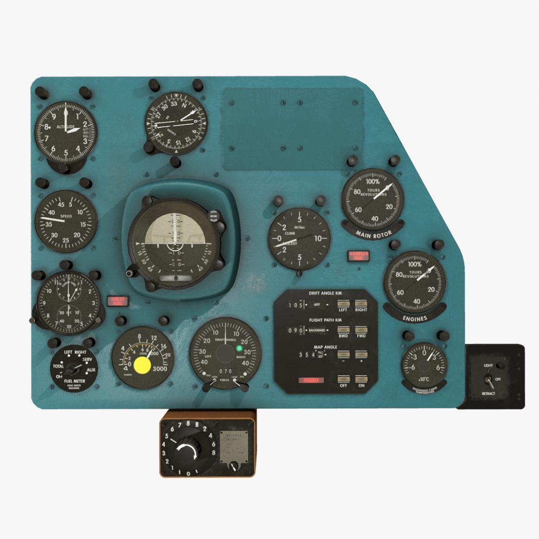 mi-8mt mi-17mt right panels board english 3d model 3ds max fbx obj 297988