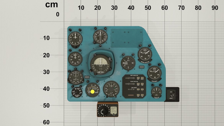 mi-8mt mi-17mt right panels board english 3d model 3ds max fbx obj 298002