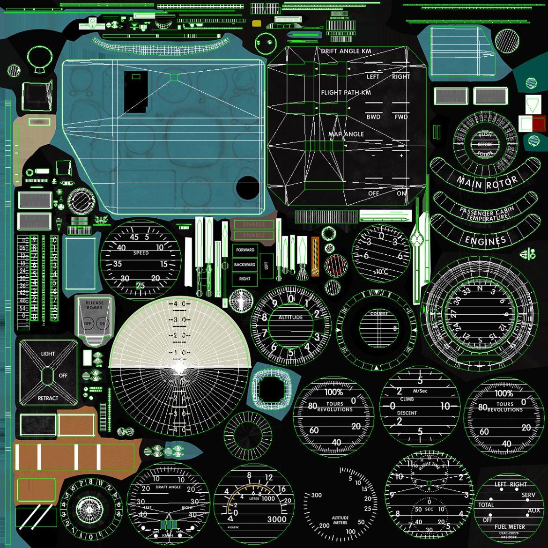 mi-8mt mi-17mt right panels board english 3d model 3ds max fbx obj 298023