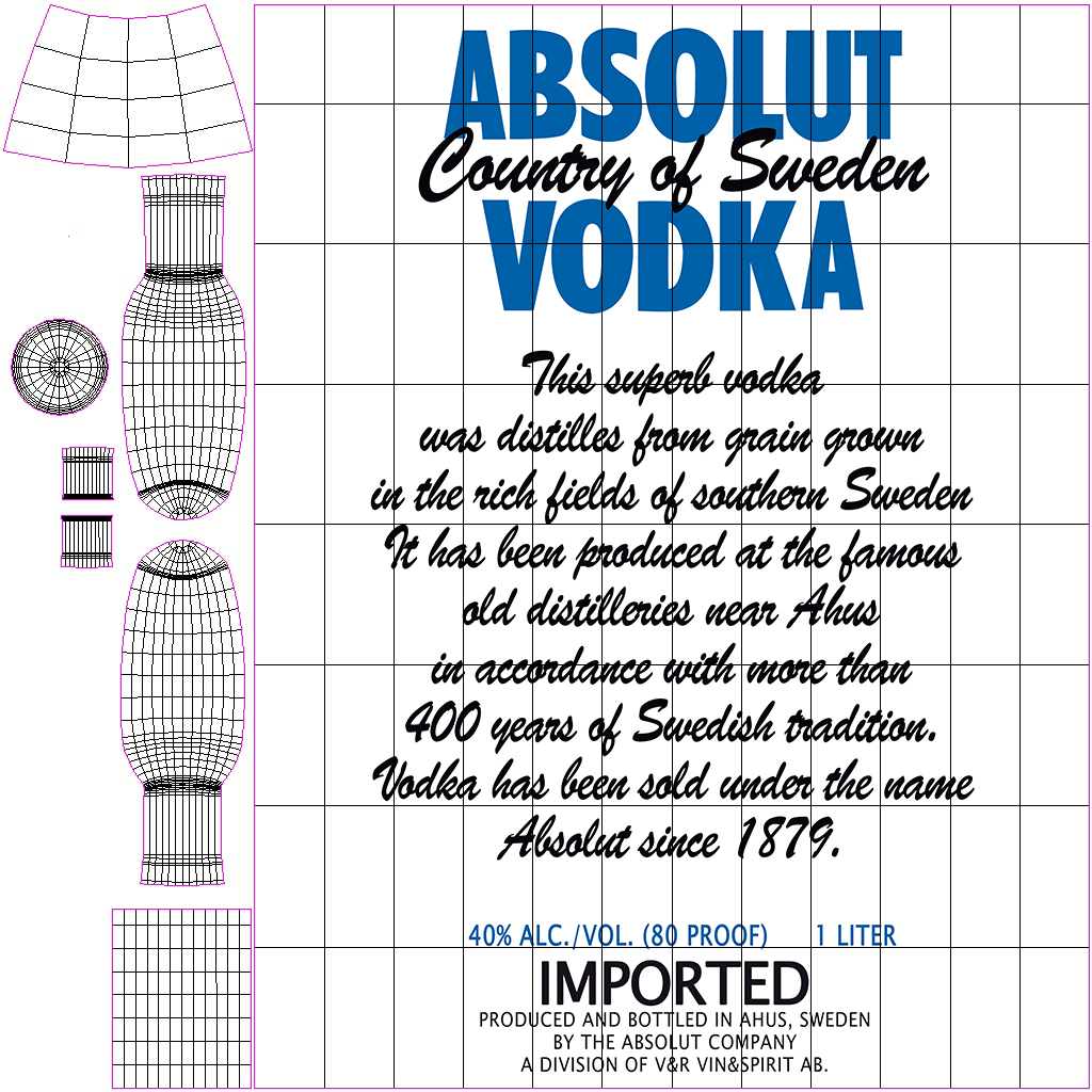 absolut vodka bottle 3d model max fbx ma mb obj 298086