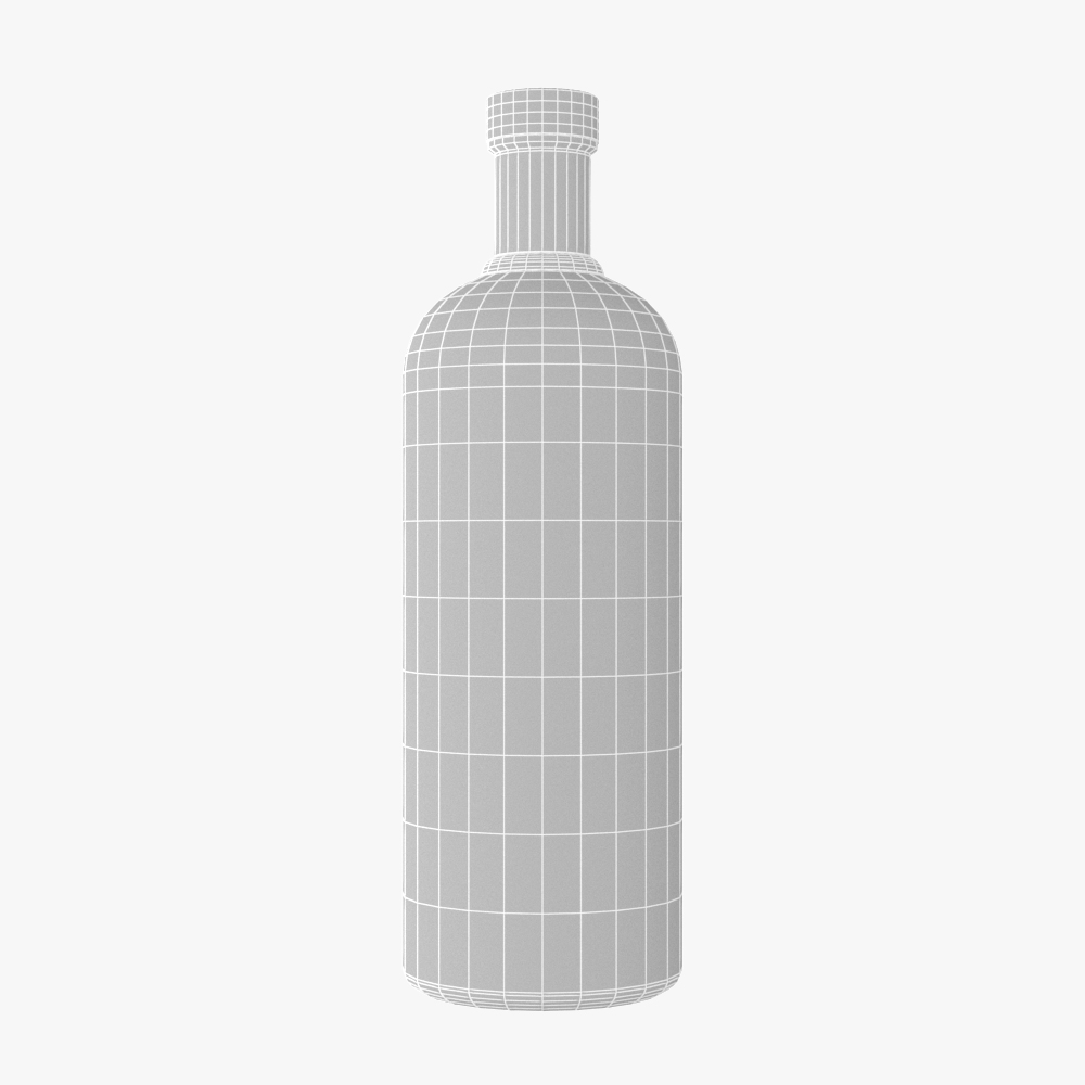 absolut vodka bottle 3d model max fbx ma mb obj 298087
