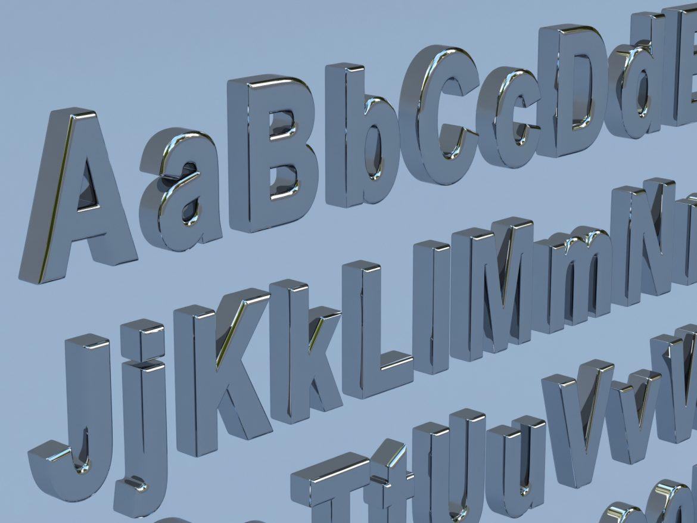 alfanumerikus karakterek arial formátumban 3d modell max fbx obj 298108