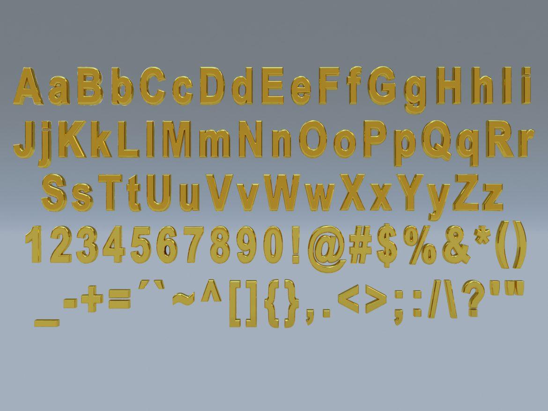 alfanumerikus karakterek arial formátumban 3d modell max fbx obj 298109