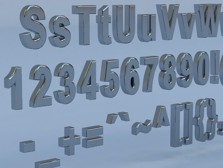 alfanumerikus karakterek arial formátumban 3d modell max fbx obj 298112