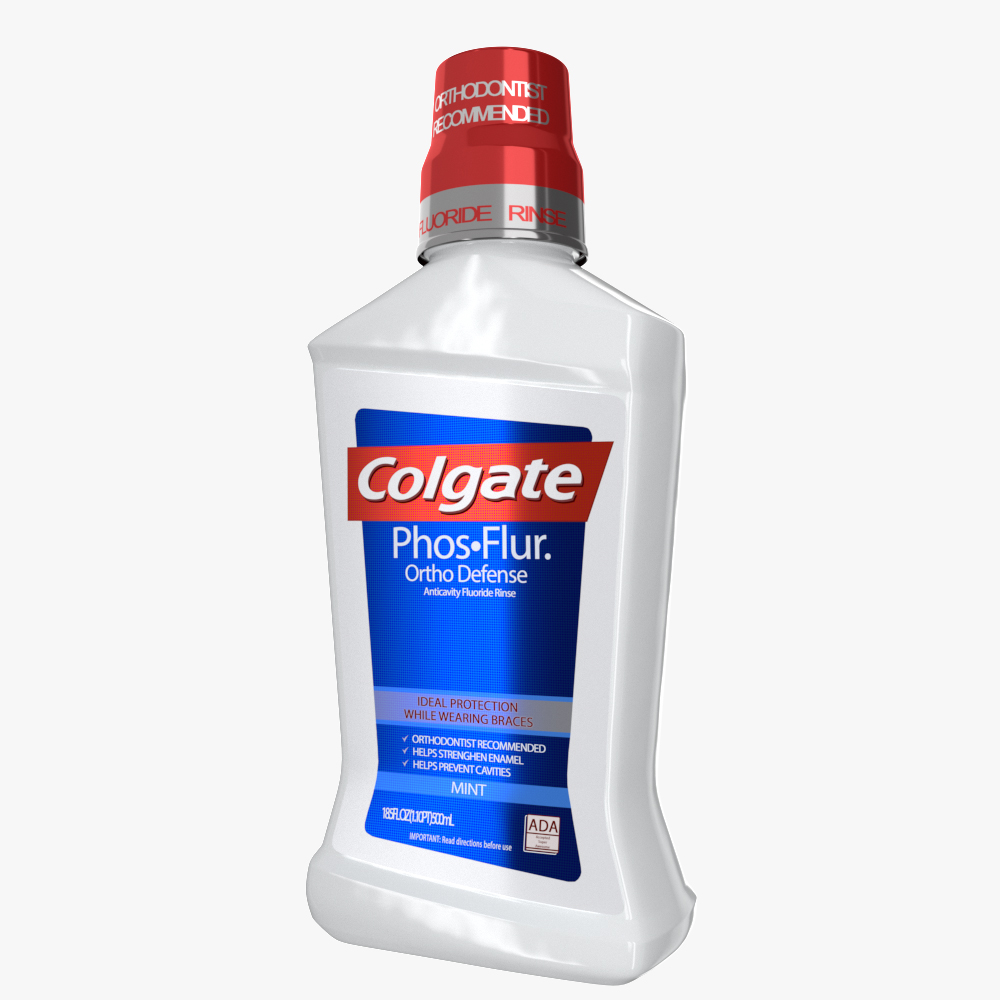 colgate mouthwash bottle 3d model max fbx ma mb obj 298168