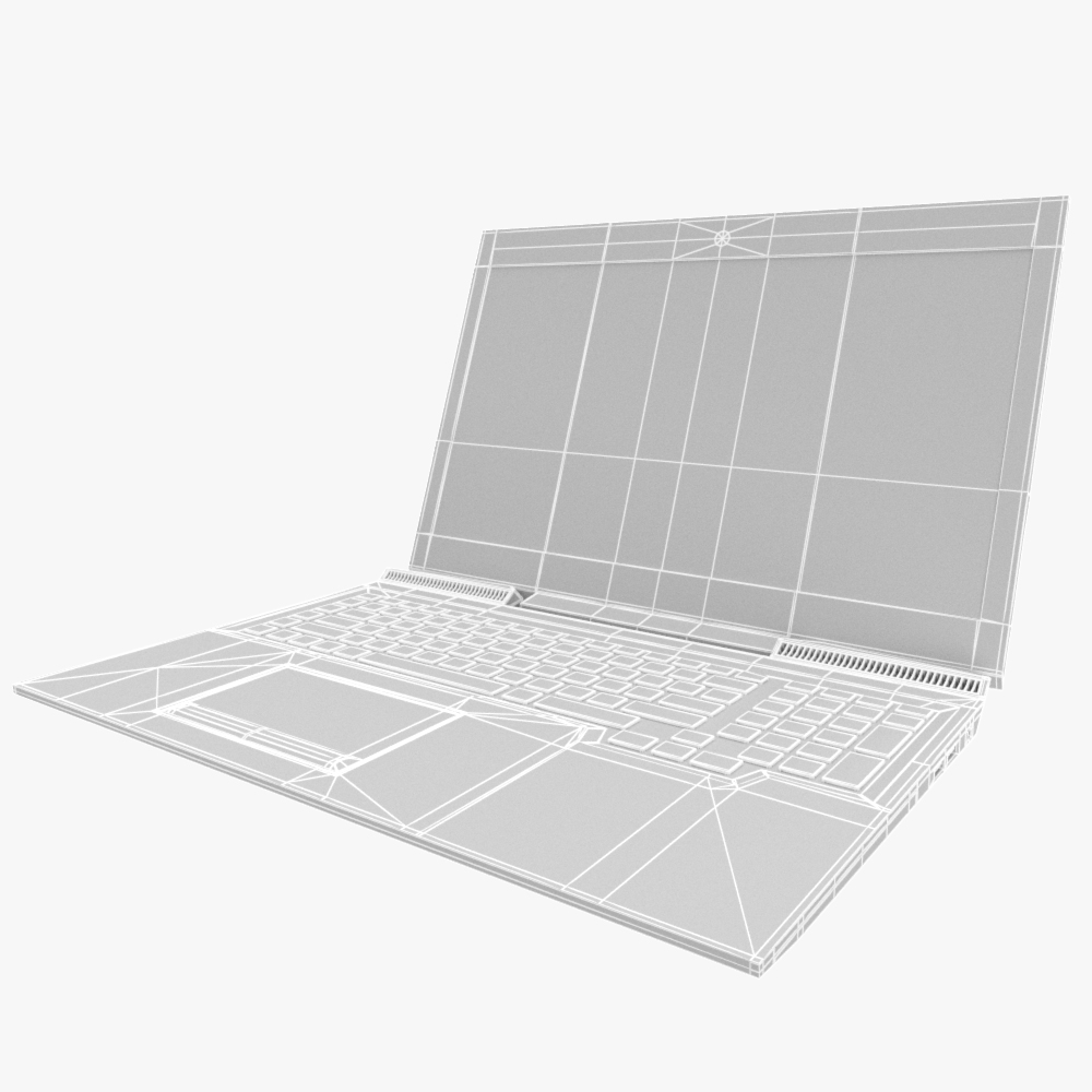 generic gaming notebook laptop 3d model max fbx ma mb obj 298243