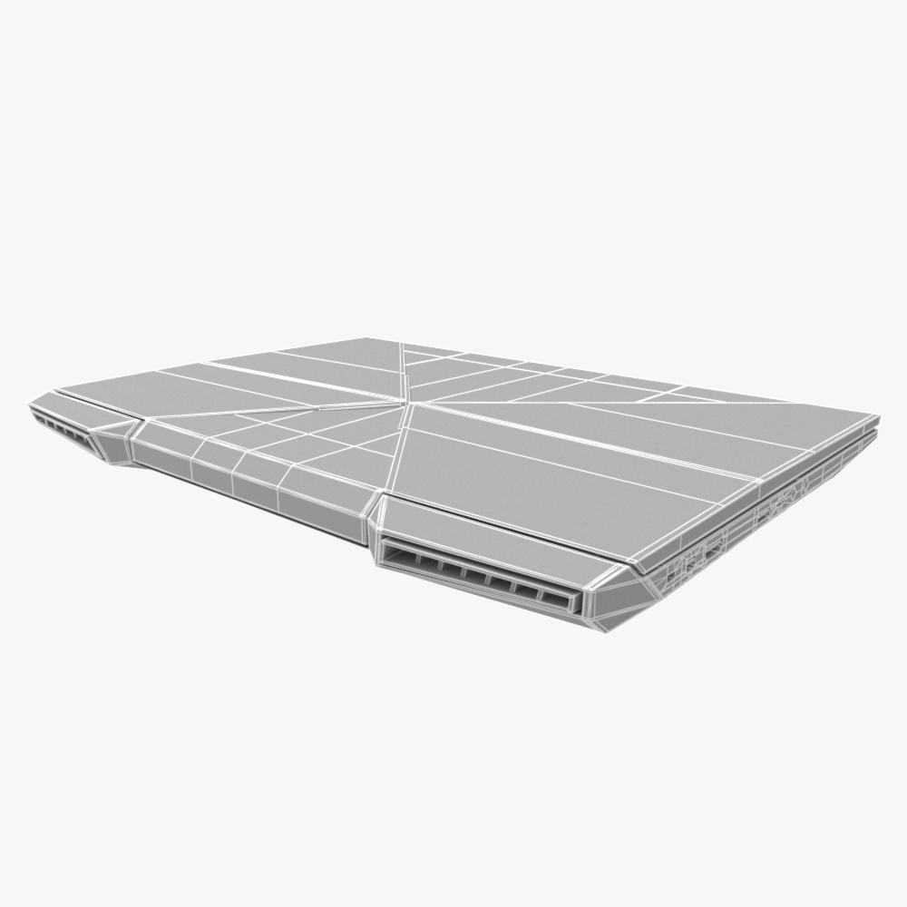 generic gaming notebook laptop 3d model max fbx ma mb obj 298244