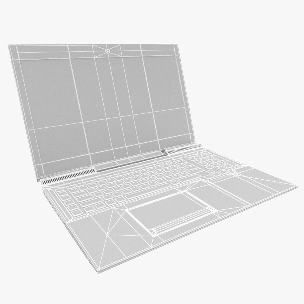 generic gaming notebook laptop 3d model max fbx ma mb obj 298252